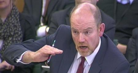 MARK THOMPSON The BBC's Director General when Rhodri Talfan Davies was appointed.  Photo: PA