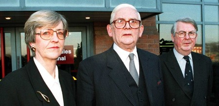 THE NORTH WALES CHILD ABUSE TRIBUNAL There were three members of the Tribunal — Margaret Clough, chairman Sir Ronald Waterhouse and Morris le Fleming. The evidence suggests they did not come to grips with the role of freemasonry in the North Wales Police?  Photo: PA